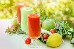 Healthy juice and smoothies